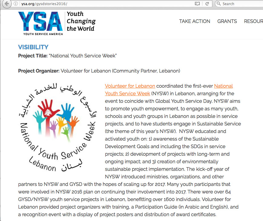 NYSW honored by YSA